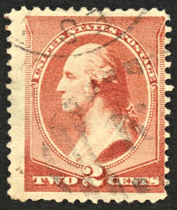 Brown George Washington Stamp
