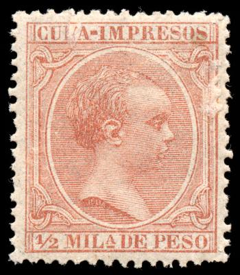 Brown King Alfonso XIII Stamp