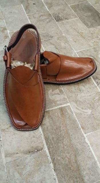 Brown Leather Open Shoes