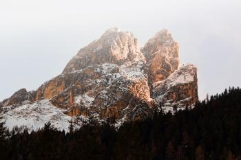 Brown Massive Snow Coated Mountain in Landscape Photography