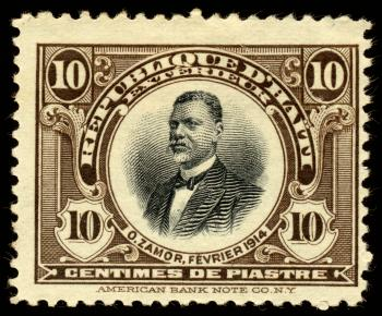 Brown Oreste Zamor Stamp