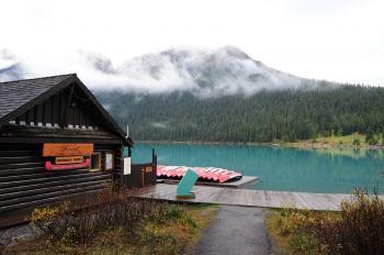 Brown Shed Near Lake