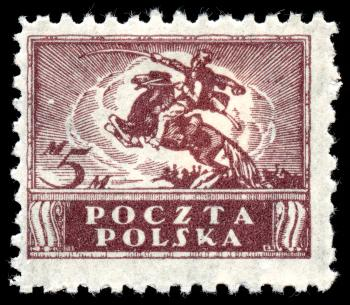 Brown Uhlan Regiment Stamp