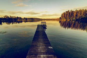 Brown Wooden Dock during Daylight