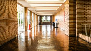 Brown Wooden Flooring Hallway