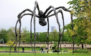 Brown Wooden Spider-formed Statue Photography