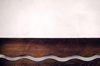 Brown Wooden Wall Shelf