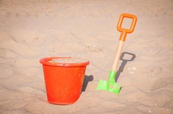 Bucket, spade and shovel