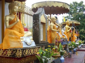 Buddha statues at Thai Buddhist Temple