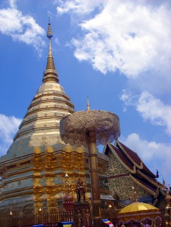 Buddhist Temple Pagoda - Doi Suthep