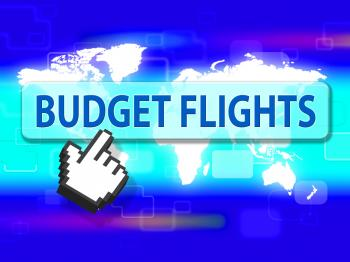 Budget Flights Shows Special Offer And Airplane