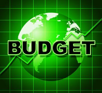 Budget Graph Means Costing Expenditure And Statistic