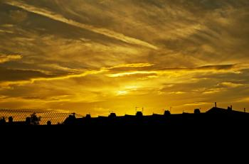 Buildings Silhouette during Sunset
