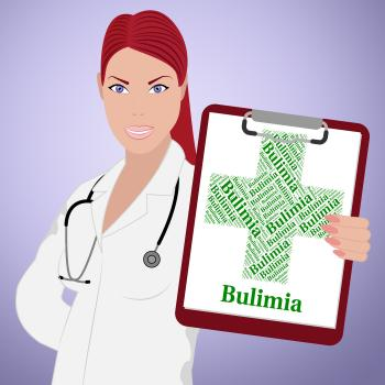 Bulimia Word Represents Binge Vomit Syndrome And Ailment