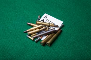 Bullets with ace of spades