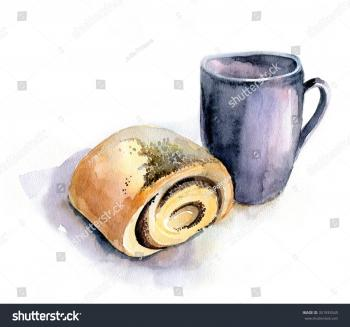 Bun and cup