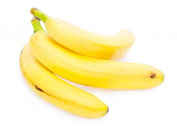 Bunch of bananas isolated on white backg