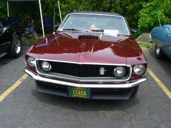Burgundy Ford Mustang