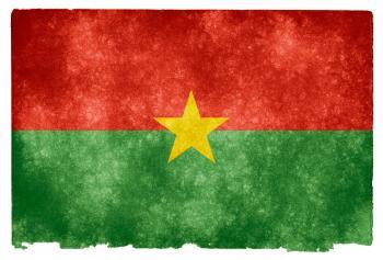 Burkina Faso Grunge Flag
