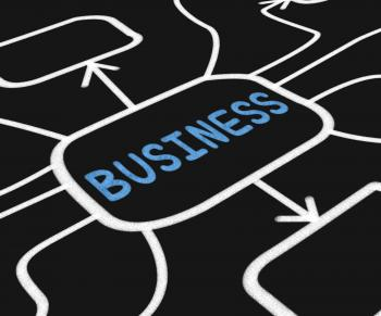 Business Diagram Means Company Venture Or Commerce