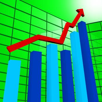 Business Graph Indicates Diagram Infochart And Profit