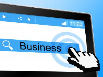 Business Online Indicates World Wide Web And Trade