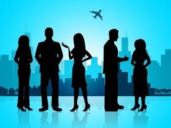 Business People Represents Buildings City And Professional