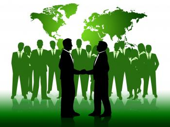 Business People Shows Working Together And Businessmen