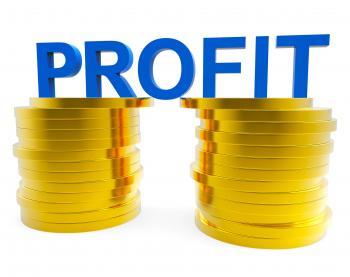 Business Profit Indicates Financial Profitable And Cash