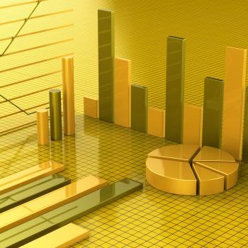 Business Report Shows Financial Infochart And Graphs