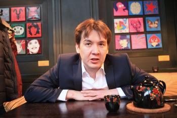 businessman and tea