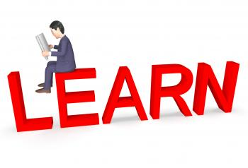 Businessman Character Means Educate Entrepreneurial And Develop 3d Ren