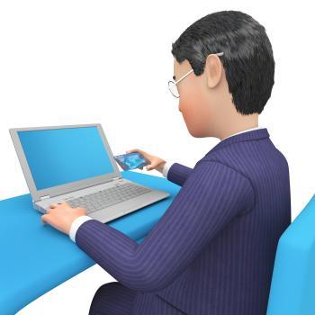 Businessman Character Shows Illustration Executive And Entrepreneur 3d