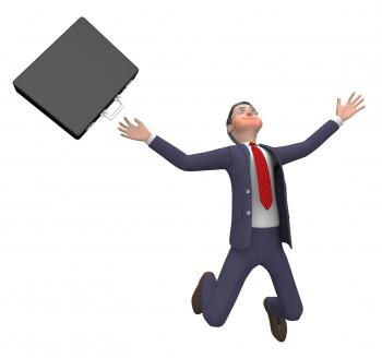 Businessman Falling Indicates Accident Over And Executive 3d Rendering