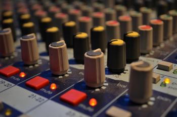 Buttons on mixing board