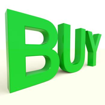 Buy Word In Green As Symbol for Commerce And Purchasing
