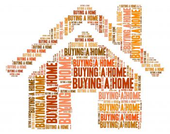 Buying Home Means Spend Purchasing And Homes