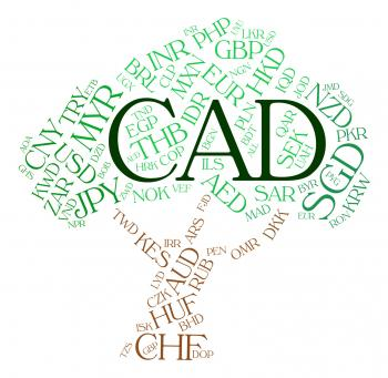 Cad Currency Indicates Forex Trading And Currencies