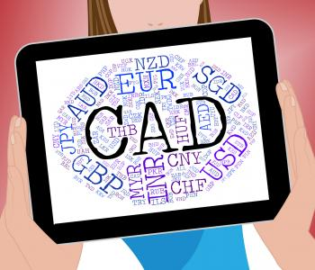 Cad Currency Represents Forex Trading And Coin