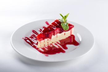 Cake Presentation in a Restaurant