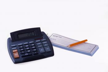 Calculator and Receipt Book