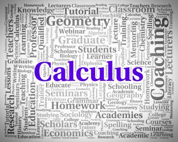 Calculus Word Indicates Algebra Figures And Words