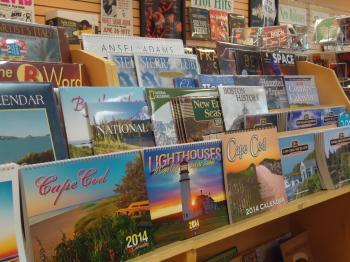 Calendars display rack