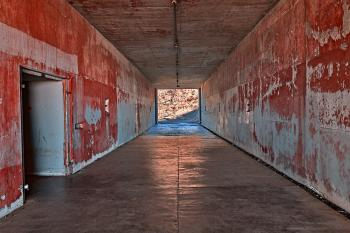 California War Tunnel - Blood Red HDR