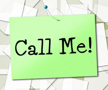 Call Me Shows Placard Advertisement And Signboard