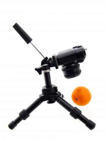 Camera shoots the orange