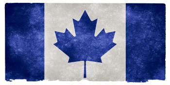 Canada Grunge Flag - Blue