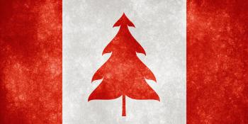 Canada Grunge Flag - Christmas Tree