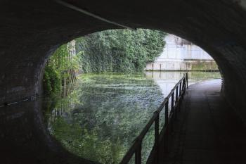 Canal in Camden Town, London