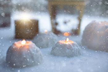 Candle Light In Winter